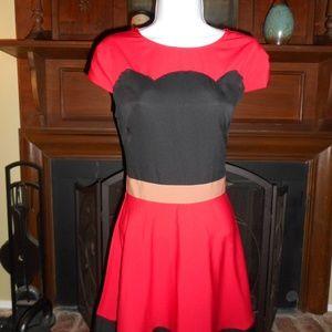 Retro styling vintage swing dress, 6 US or 10 UK